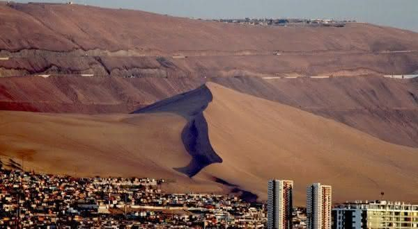 Iquique entre os lugares mais secos do mundo