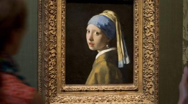 Moca com Brinco de Perola  entre as pinturas mais famosas do mundo
