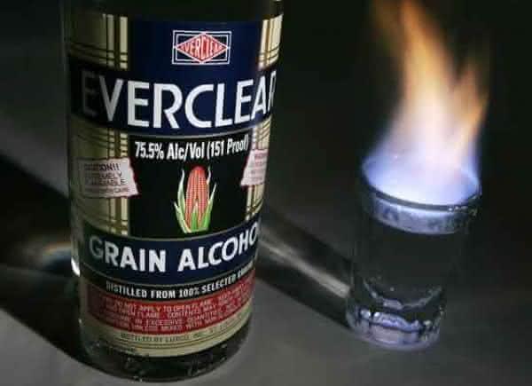 Everclear Grain entre as bebidas alcoolicas mais fortes do mundo
