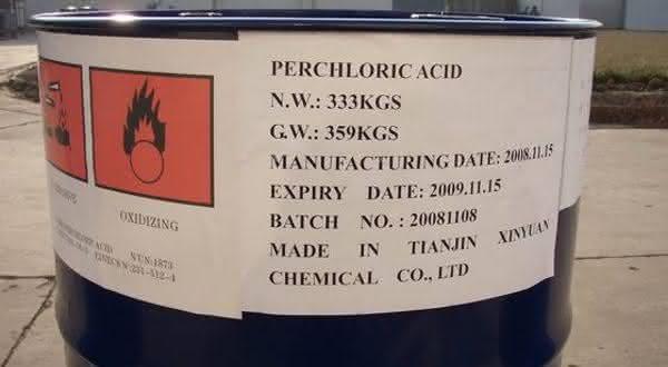 acido perclorico entre os acidos mais fortes do mundo