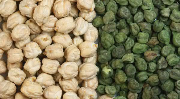 Grao-de-Bico entre os alimentos ricos em fibras