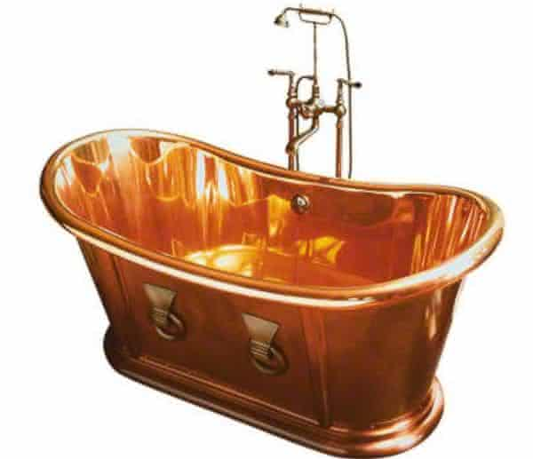 Kallista Archeo Copper entre as banheiras mais caras do mundo