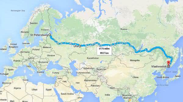 Trans-Siberian entre as estradas mais longas do mundo