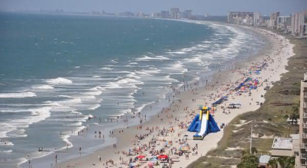 Grand Strand entre as praias mais longas do mundo