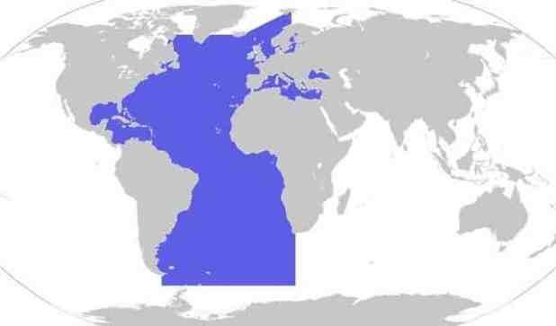oceano atlantico entre os maiores oceanos e mares do mundo