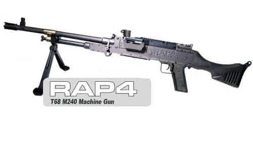 RAP4 T68 M240 entre as armas de paintball mais caras do mundo