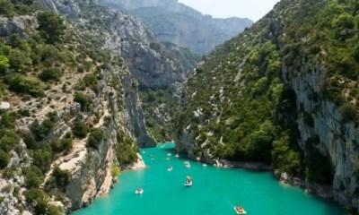 Verdon Gorge Canyon entre as atracoes turisticas mais populares na Franca