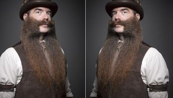 Nate Johnson entre as barbas mais longas do mundo