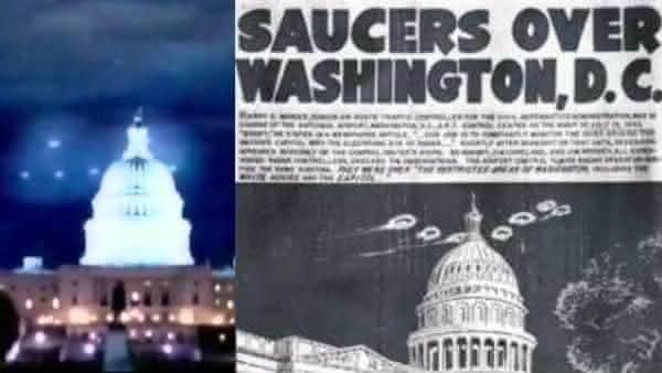 Casa Branca e Capitolio entre os avistamentos de OVNIs mais crediveis no mundo