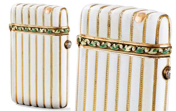 Faberge Jeweled and White Enameled Lighter entre os isqueiros mais caros do mundo