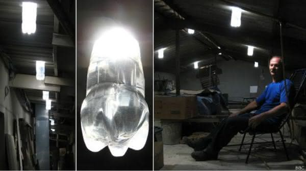 lampada de garrafa