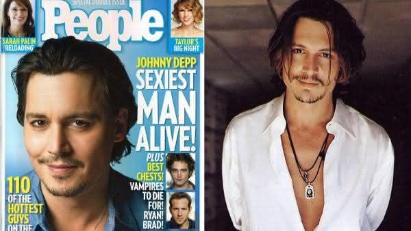 Johnny Depp entre os homens mais sexy dos ultimos 10 anos