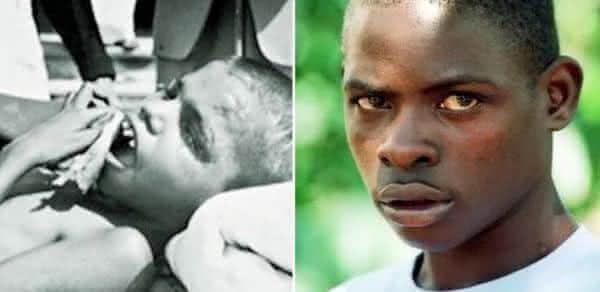 O menino macaco uganda entre os casos reais de criancas selvagens