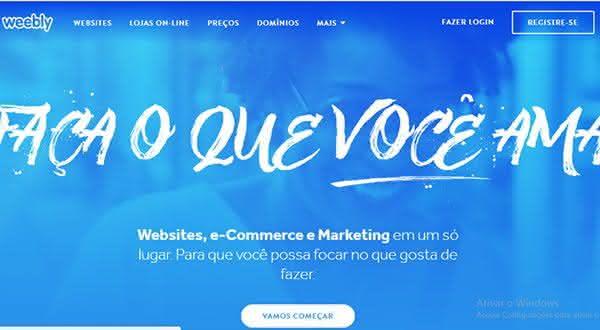 weebly entre os melhores sites para criar um site ou blog de graca