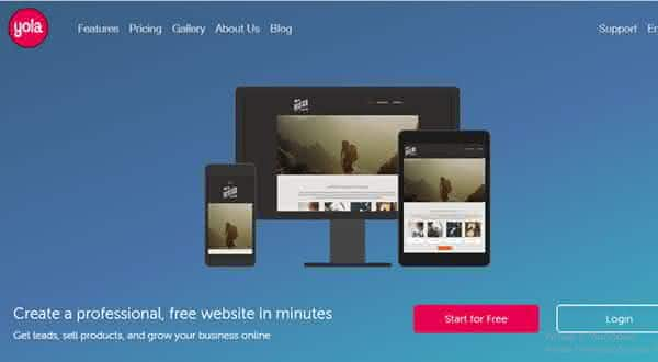yola entre os melhores sites para criar um site ou blog de graca