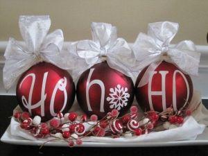 bolas de navidad con letras