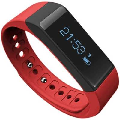 Fitness-Tracker,Toprime-Wearable-Waterproof-Smart-Band-with-Multi-Functions-Activity-Tracker-for-Android-and-iOS,Red