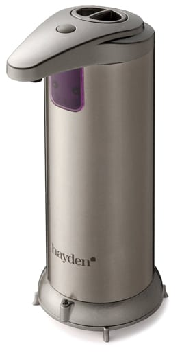 HAYDEN-Premium-Automatic-Soap-Dispenser-Touchless--Perfect-for-Bathroom-or-Kitchen---Fingerprint-Resistant-Stainless-Steel---Brushed-Nickel