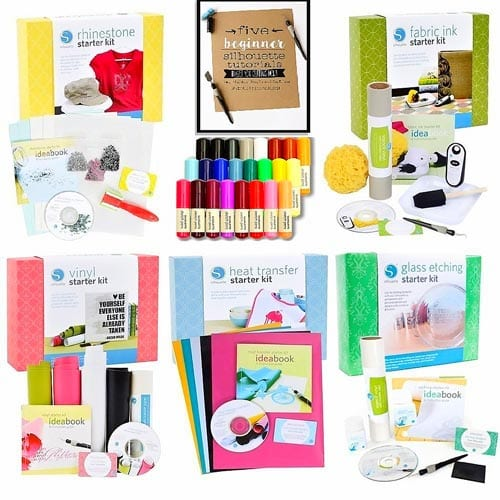Silhouette-Cameo-Starter-Kit-Bundle-with-5-Kits,-24-Sketch-Pens,-and-Project-Guide