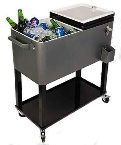 HIO-73-Qt-Outdoor-Patio-Cooler-Table-On-Wheels,-Rolling-Cooler-With-Shelf
