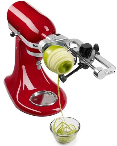 KitchenAid-KSM1APC-Spiralizer-Attachment-with-Peel,-Core-and-Slice