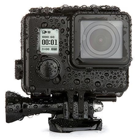 LOPOO-GoPro-Housing-Case,-Underwater-40m-Waterproof-Protective-Replacement-Diving-Housing-with-Quick-Release-Buckle-Mount-+-Thumbscrew-for-GoPro-Hero-4-3+-3-(Black)