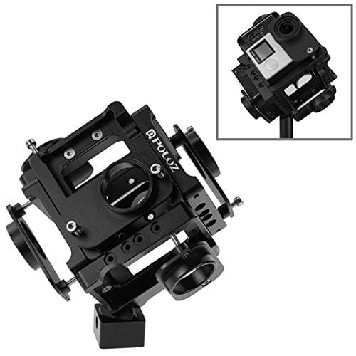 PULUZ-6-in-1-CNC-Aluminum-Alloy-Housing-Shell-Protective-Cage-with-Screw-for-GoPro-HERO4--3+(Black)