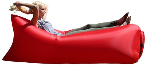Outdoor-Convenient-Inflatable-Lounger-Nylon-Fabric-Sleeping-Compression-Air-Bag-Hangout-Bean-Bag-Portable-Dream-Chair-(comes-with-stake-to-hold-down-chair)-(Red)