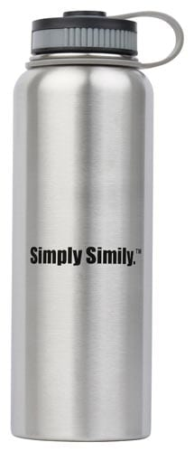 Simply-Simily-Stainless-Steel-Water-Bottle---Wide-Mouth---BPA-Free---Double-Walled-Vacuum-Insulated,-40-Oz