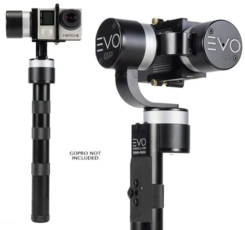 EVO-GP-3-Axis-Handheld-Gimbal-for-GoPro-Hero-3,-Hero-3+,-Hero-4,-CNC-Alloy-Construction,-USA-1-Year-Warranty