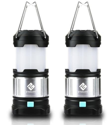 Etekcity-2-Pack-Rechargeable-LED-Camping-Lantern-Flashlights-&-4400mah-USB-Power-Bank