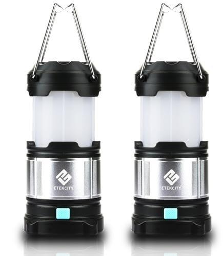 Etekcity-2-Pack-Rechargeable-LED-Camping-Lantern-Flashlights-&-4400mah-USB-Power-Bank