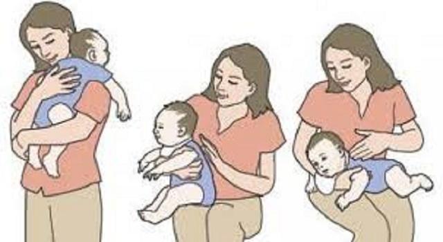 técnicas para eliminar el gas y los colicos de su bebé