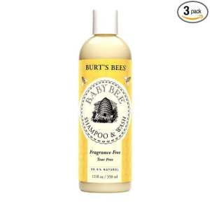 2. Burt's Bees Baby Bee Fragrance Free Shampoo & Wash, 12 Fluid Ounce
