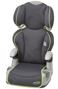 7. Evenflo Big Kid AMP High Back Car Seat Booster, Green Angles