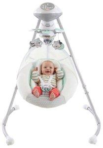 8. Fisher-Price Moonlight Meadow Deluxe Baby Swing