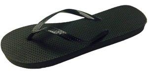 9. Wholesale Ladies 36 Pairs Solid Black Flip Flops
