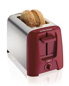 10. Hamilton Beach 22623 Cool Wall 2-Slice Toaster, Red