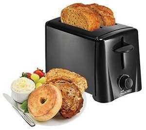 6. Proctor Silex 22612 2-Slice Toaster, Black
