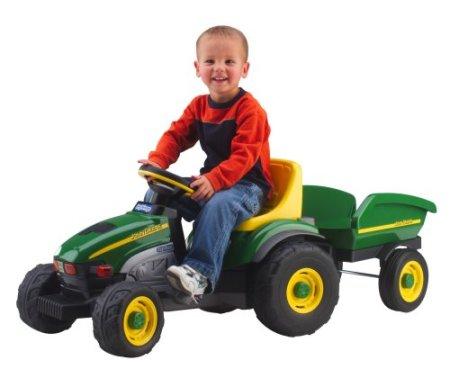 5. Peg Perego John Deere Farm Tractor & Trailer