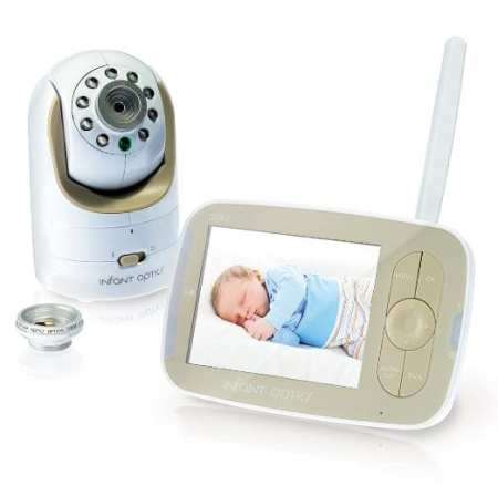 6. Infant Optics DXR-8 Video Baby Monitor With Interchangeable Optical Lens, White:Biege