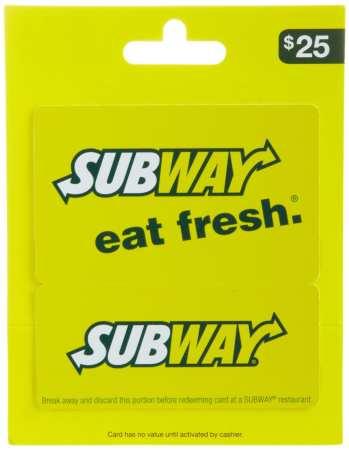 5.SUBWAY Gift Card