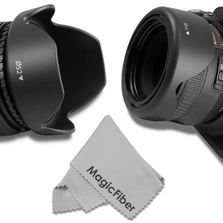 9.Goja 52MM Reversible Flower Lens Hood