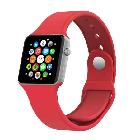 4.Apple Watch Band, MoKo Soft Silicone Fitness Replacement Sport Band