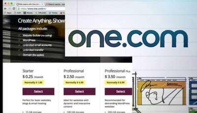 طريقة التسجيل في استضافة المواقع One.com
