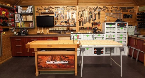 setup small woodworking shop
