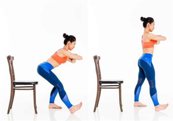 一張椅子就能做!筋肉媽媽授3招,練出緊腹美臀   華人健康網
