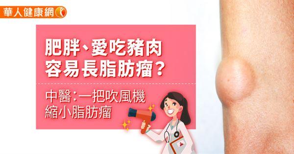 肥胖、愛吃豬肉容易長脂肪瘤?中醫:一把吹風機縮小脂肪瘤 - 華人健康網-良醫健康網