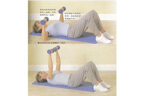 臥床族上肢運動(圖片提供/中華民國骨質疏鬆症學會)