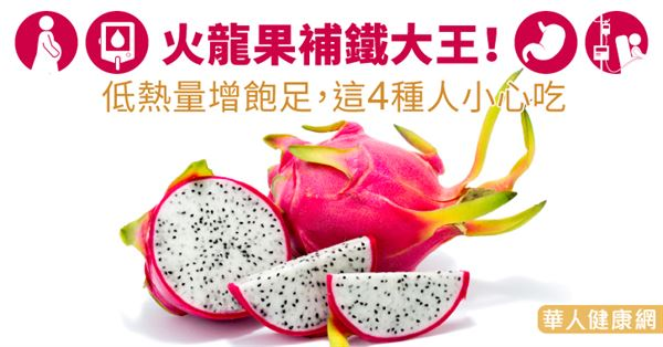 火龍果補鐵大王!低熱量增飽足,這4種人小心吃-華人健康網-良醫健康網